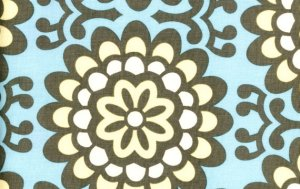 Amy Butler Lotus Fabric - Wall Flower - Sky