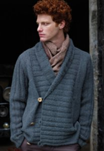 Rowan Alpaca Cotton Simpson Cardigan Kit - Mens Cardigans