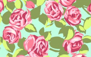 Amy Butler Love Fabric - Tumble Roses - Pink