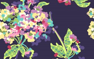 Amy Butler Love Fabric - Water Bouquet - Midnight
