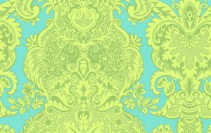 Amy Butler Love Fabric - Sandlewood - Turquoise