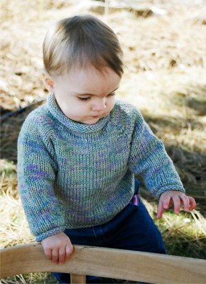 Knitting Pure and Simple Baby & Children Patterns - 0214 - Baby Pullover Pattern