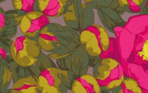 Martha Negley Flower Garden Fabric - Peony - Pink