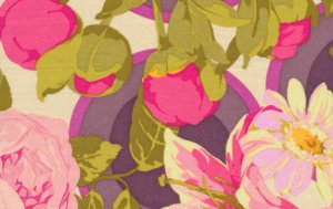 Martha Negley Flower Garden Fabric - Bunches - Grass
