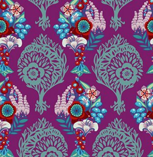 Anna Maria Horner Innocent Crush Fabric - LovesMe LovesMeNot - Grape