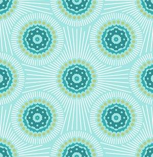 Anna Maria Horner Innocent Crush Fabric - Bubble Burst - Turquoise