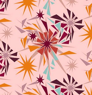 Anna Maria Horner Innocent Crush Fabric - Shattered - Punch