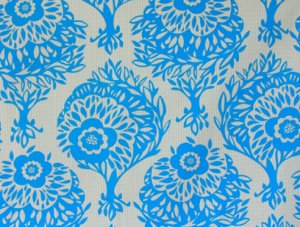 Anna Maria Horner Innocent Crush Sateen Fabric - Woodcut - Day Dream
