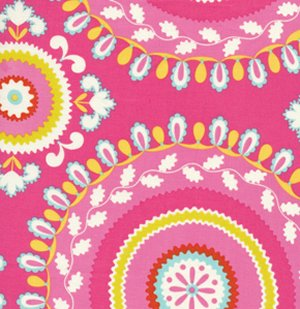 Dena Designs Kumari Garden Fabric   Jeevan   Pink