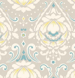 Dena Designs Taza Fabric - Medallion - Grey