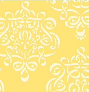 Dena Designs Taza Fabric - Ribbon Damask - Yellow