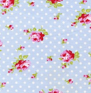 Tanya Whelan Delilah Fabric - Buds - Blue