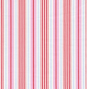 Tanya Whelan Delilah Fabric - Stripe - Red