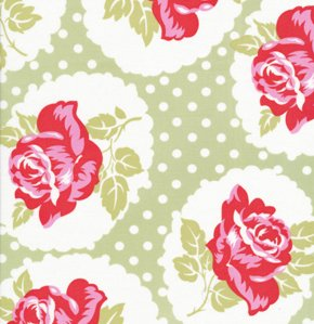 Tanya Whelan Delilah Fabric - Lulu Rose - Green