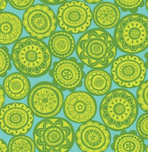 Erin McMorris Summersault Fabric - Cartwheel - Lime