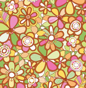 Erin McMorris Summersault Fabric - Hide and Seek - Grass
