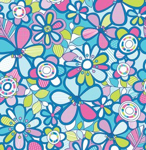 Erin McMorris Summersault Fabric - Hide and Seek - Sky