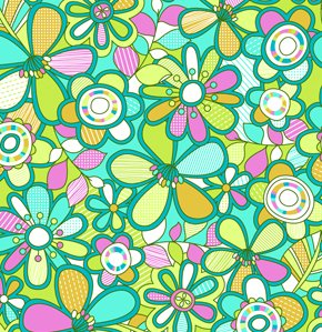 Erin McMorris Summersault Fabric - Hide and Seek - Turquoise