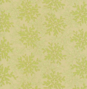 Valori Wells Nest Voile Fabric - Leaves - Lime