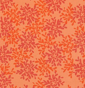 Valori Wells Nest Fabric - Leaves - Scarlet