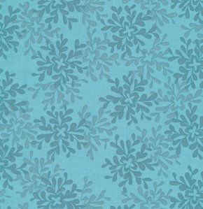 Valori Wells Nest Fabric - Leaves - Teal