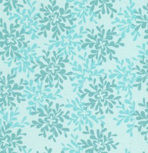 Valori Wells Nest Fabric - Leaves - Turquoise