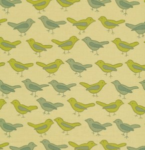 Valori Wells Nest Fabric - Birds - Sage
