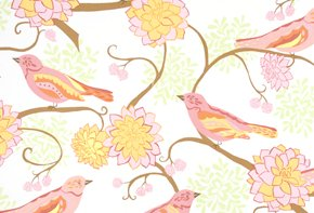 Valori Wells Nest Fabric - Bird Paisley - Pink
