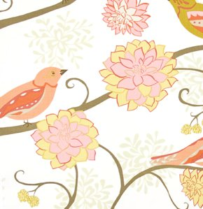 Valori Wells Nest Fabric - Bird Paisley - Scarlet