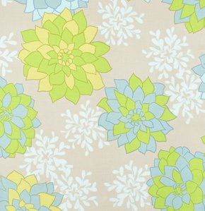 Valori Wells Nest Fabric - Dahlia - Teal