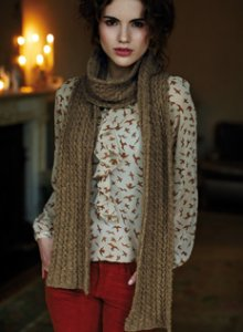 Rowan Lima Belle Cable Scarf Kit - Scarf and Shawls