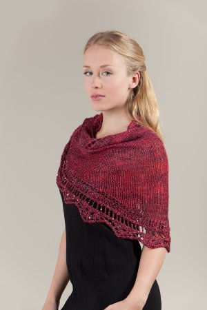 Artyarns Patterns - E207 Golden Lace Shawl Pattern