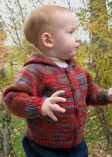 Knitting Pure and Simple Baby & Children Patterns - 0982 - Babies Neckdown Cardigan Pattern