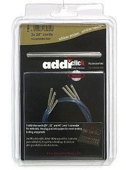 "Addi Lace Click Cords Needles - Lace Extra Cord - 1 24"" Needles"