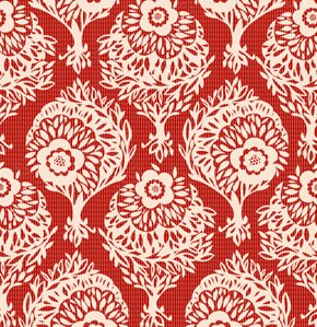Anna Maria Horner Innocent Crush Velveteen Fabric - Woodcut - Crimson