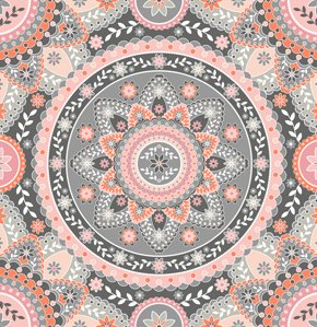 Jenean Morrison Silent Cinema Fabric - Intermission - Pink