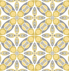 Jenean Morrison Silent Cinema Fabric - Iris - Yellow