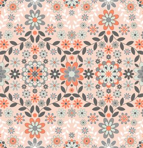Jenean Morrison Silent Cinema Fabric - Sunrise - Orange