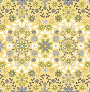 Jenean Morrison Silent Cinema Fabric - Sunrise - Yellow