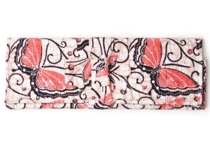Lantern Moon Bali Fabric Needle Case - Orange