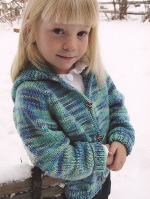 Knitting Pure and Simple Baby & Children Patterns - 0981 - Children's Neckdown Cardigan Pattern