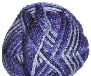 Knitting Fever Flounce Metallic Yarn - 01 Light Blue, Navy w/Silver