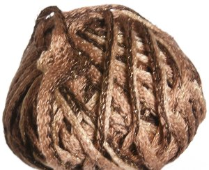 Knitting Fever Flounce Metallic Yarn - 05 Gold, Brown, Black w/Gold