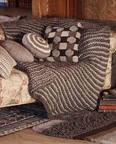 Rowan British Sheep Breeds Boucle and Chunky Garter Stitch Rug or Throw Kit - Home Accessories