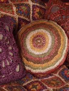 Rowan Purelife Renew Striped Circular Cushion Kit - Crochet for Home