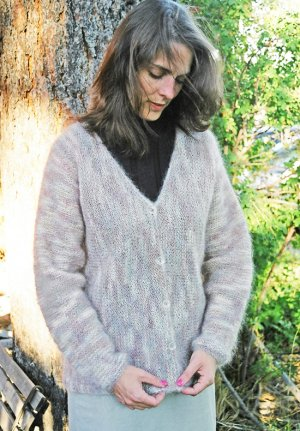 Knitting Pure and Simple Women's Cardigan Patterns - 0202 - Women's Side to Side Cardigan Pattern