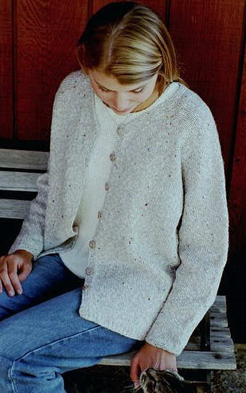 Knitting Pure and Simple Women's Cardigan Patterns - 0994 - V Neck Neckdown Cardigan for Women Pattern