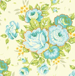 Heather Bailey Garden District Sateen Fabric