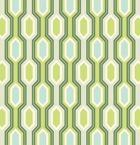 Heather Bailey Garden District Canvas Fabric - Caiman Stripe - Slate