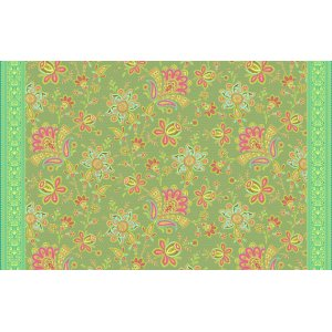 Amy Butler Soul Blossoms Fabric - Sari Blooms - Moss
